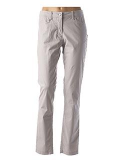 Pantalon casual gris EL INTERNATIONALE pour femme