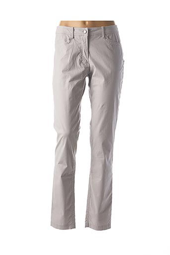 Pantalon casual gris EL INTERNATIONALE pour femme