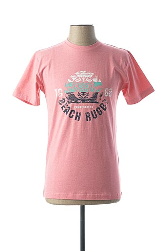 T-shirt manches courtes rose CAMBERABERO pour homme