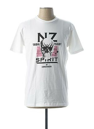 T-shirt manches courtes blanc CAMBERABERO pour homme