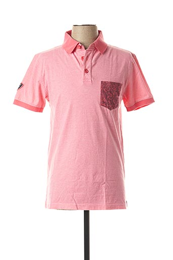 Polo manches courtes rose CAMBERABERO pour homme