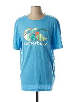 T-shirt manches courtes bleu CANTERBURY pour homme