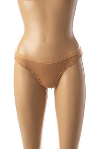 String/Tanga marron COTONELLA pour femme