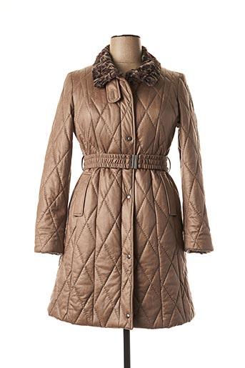 Manteau long marron FASHION S.A pour femme