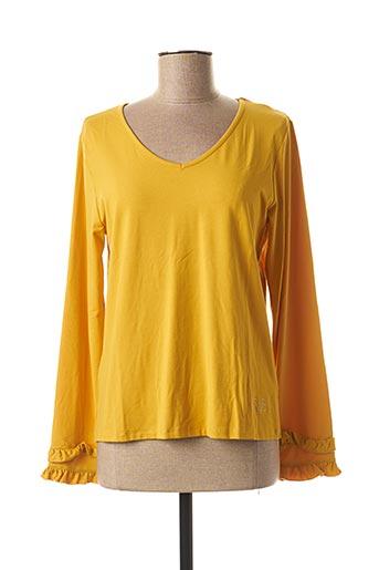 T-shirt manches longues jaune PAUL BRIAL pour femme