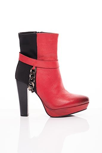 Bottines/Boots rouge ILARIO FERUCCI pour femme