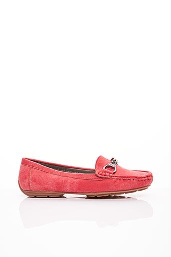Chaussures bâteau rouge CASSIS COTE D'AZUR pour femme