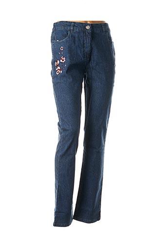 Jeans coupe slim bleu DAMART pour femme