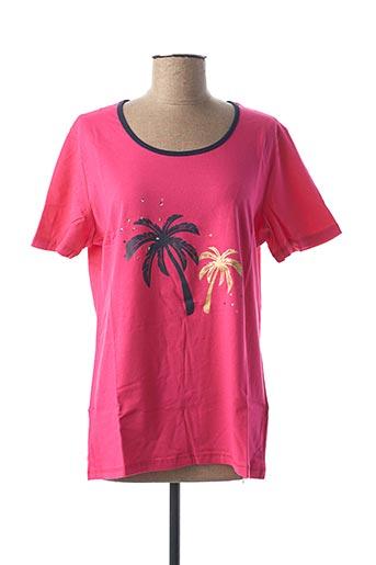 T-shirt manches courtes rose DAMART pour femme