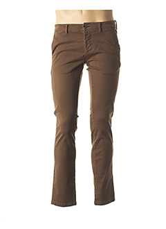 Pantalon casual marron JOHN BARRITT pour homme