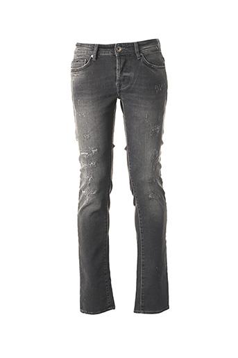 Jeans coupe slim gris GAS pour homme