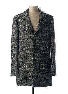 Manteau long noir JOHN BARRIT pour homme