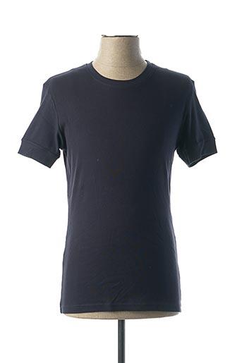 T-shirt manches courtes bleu MBM pour homme