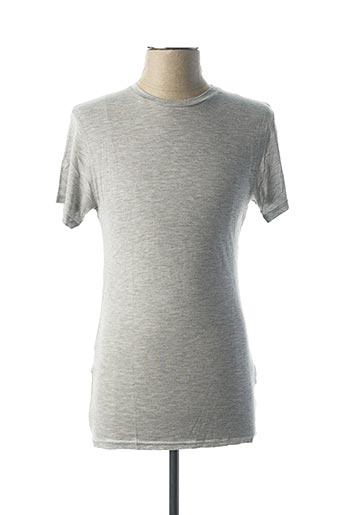 T-shirt manches courtes gris BILL TORNADE pour homme
