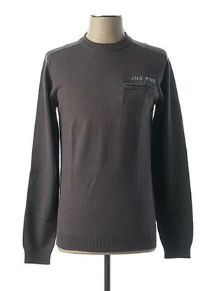 Pull col rond gris RWD pour homme