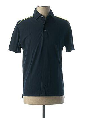 Polo manches courtes bleu VNECK pour homme