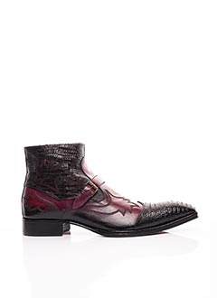 Bottines/Boots violet JO GHOST pour homme