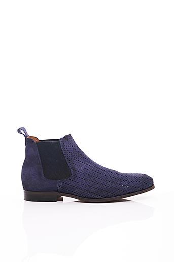 Bottines/Boots bleu ERIC FILLIAT pour homme