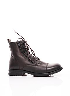 Bottines/Boots marron BUNKER pour homme
