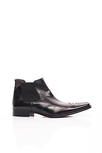 Bottines/Boots noir BRETT & SONS pour homme