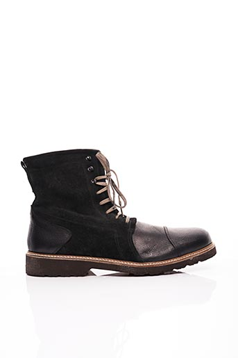 Bottines/Boots noir GIANNI EMPORIO pour homme