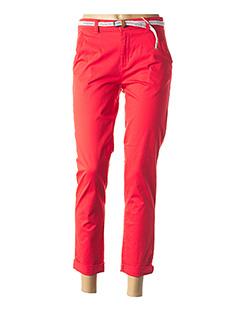 Pantalon 7/8 rouge C  COM CA pour femme