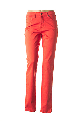 Pantalon casual orange LCDN pour femme