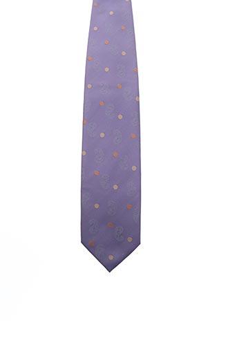 Cravate violet FRED GIL pour homme