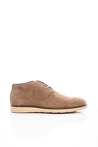 Bottines/Boots beige NICOLA BENSON pour homme