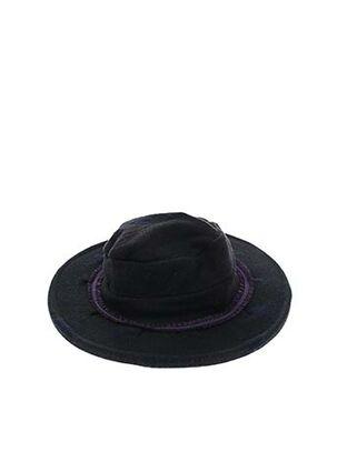 Chapeau noir BERTHE AUX GRANDS PIEDS pour femme