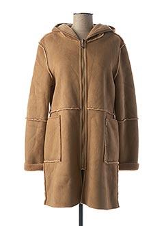 Manteau long beige FLY GIRL pour femme