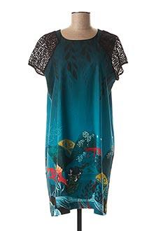Robe courte bleu ANATOPIK pour femme