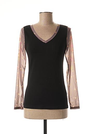 T-shirt manches longues noir ANATOPIK pour femme