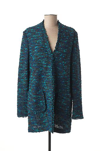 Manteau long bleu BASLER pour femme