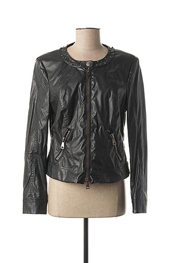 Veste simili cuir noir LUISA CERANO pour femme