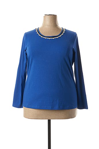 T-shirt manches longues bleu BASLER pour femme