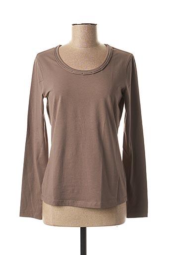 T-shirt manches longues marron BASLER pour femme
