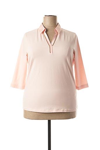 T-shirt manches longues rose BASLER pour femme