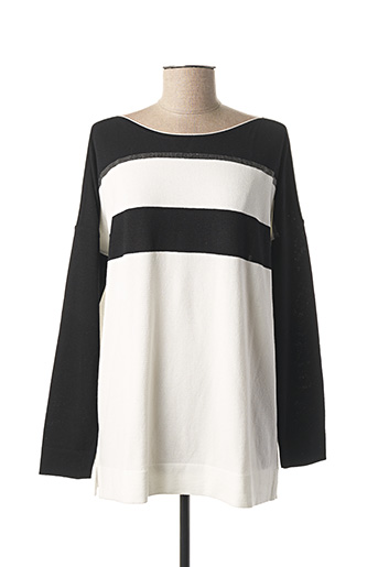 Pull col rond blanc FABER pour femme