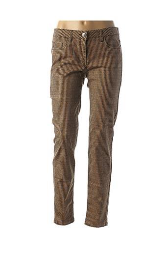 Pantalon casual marron LUISA CERANO pour femme