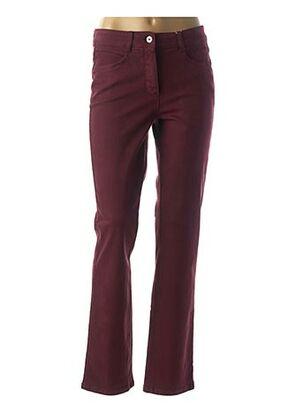 Pantalon casual rouge BASLER pour femme