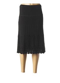 Jupe mi-longue noir CHASSAGNARD pour femme
