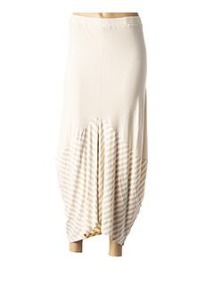 Jupe longue beige G!OZE pour femme
