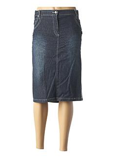Jupe mi-longue bleu GIANI FORTE pour femme