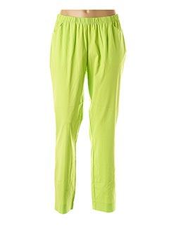 Pantalon casual vert CHALOU pour femme
