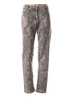 Pantalon casual gris CHALOU pour femme