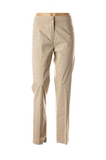 Pantalon casual beige ALAIN MIKLI pour femme