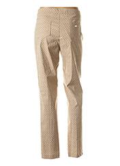 Pantalon casual beige ALAIN MIKLI pour femme seconde vue
