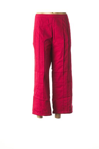 Pantalon 7/8 rouge NID D'ABEILLE pour femme