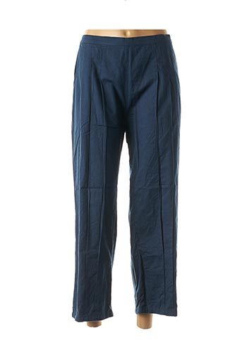 Pantalon 7/8 bleu NID D'ABEILLE pour femme